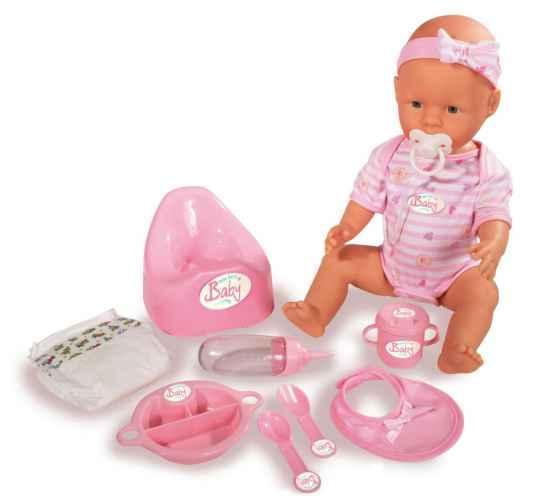 43 cm New Born Baby Puppe mit viel Zubehör