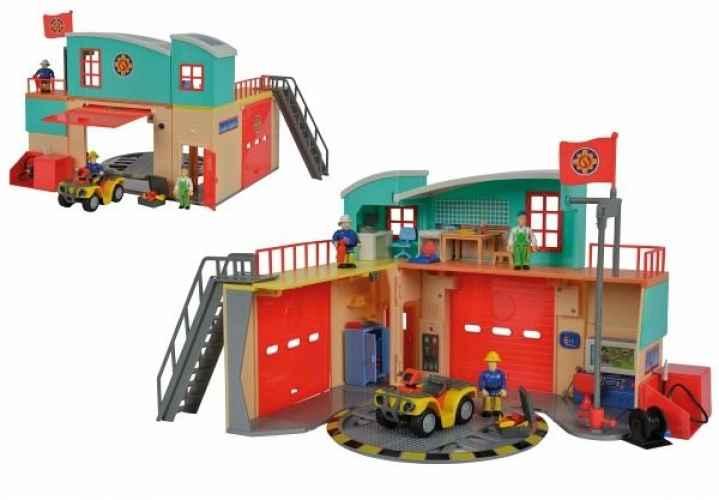Feuerwehrmann Sam - Neue Feuerwehrstation mit Figur